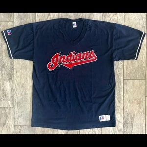 Cleveland Indians XL V-Neck T-shirt by Russell
